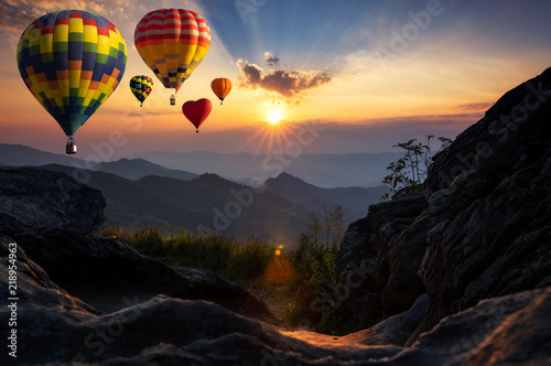 Hot air balloons at Doi Pha Tang.