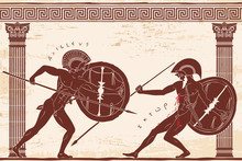 Two Ancient Greek Warrior Hect...