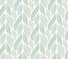 Vector Green Leaves Seamless P...