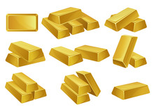 Gold Bars Set, Banking Busines...
