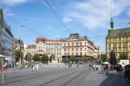 Photo  Amazing view of the old tow and Liberty Square in Brno, Czech Republic