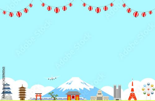 Foto auf AluDibond Licht blau 日本の風景 提灯