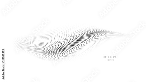 3d mesh halftone vector background on white