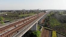 Aerial Of Raised Railway Of Ch...