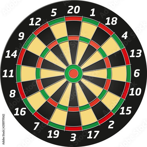 Cuadros en Lienzo Vector Graphic Dartboard