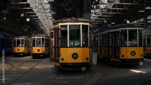 Spoed Foto op Canvas Krakau milano city atm tram deposit station