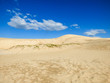 Sand dunes at Ingleses beach against blue sky - Florianopolis, Brazil