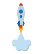 startup rocket isolated icon