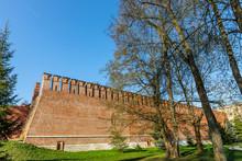 Wall Of The Smolensk Kremlin, Russia