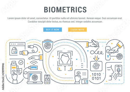 Photo  Linear Banner of Biometrics.