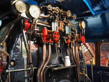 Inside Cab London And North Eastern Railway Record Breaking Steam Locomotive Mallard A4 Pacific Class 4468