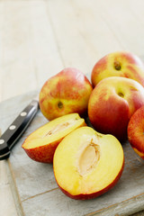 Naklejka na ściany i meble fresh ripe peaches
