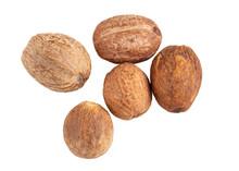 Nutmeg Isolated In White