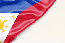 Flag Of Philippines With A Place For Text