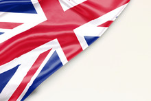 Flag Of Great Britain With Pla...