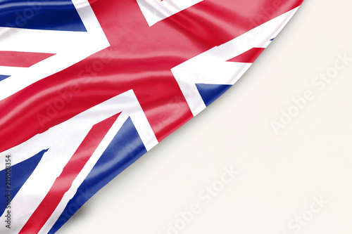 Carta da parati Flag of Great Britain with place for text