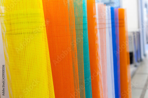 Photo A set of fiberglass netting (reinforcing mesh) rolled up in a roll for the insul