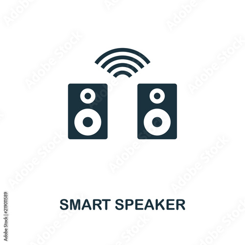 Fototapety, obrazy: Smart Speaker icon. Monochrome style icon design from smart devices icon collection. UI. Illustration of smart speaker icon. Pictogram isolated on white. Web design, apps, software, print.