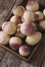 Preparing Fresh Turnip