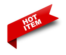 Red Vector Banner Ribbon Hot Item
