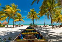 Tropical Beach Setting On Isla Holbox, Mexico