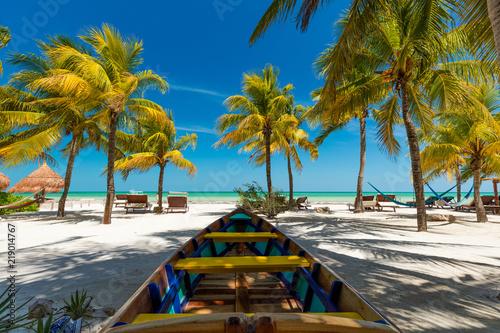 Fotografie, Obraz  Tropical beach setting on Isla Holbox, Mexico