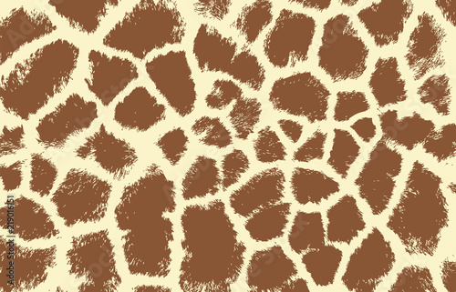giraffe texture pattern brown white Canvas Print
