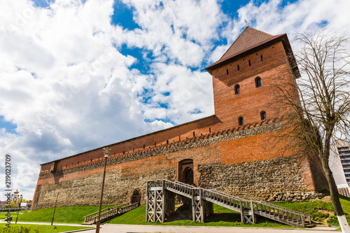 Foto  Lida Castle in Belarus, built in the 14th century on the instructions of Prince Gedimin