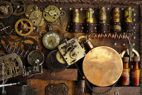 Steampunk ingranaggi antichi  #219024749