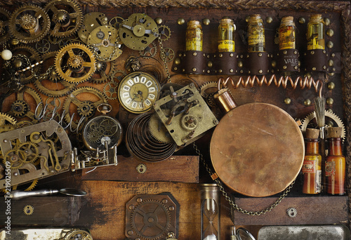 Photo  Steampunk ingranaggi antichi