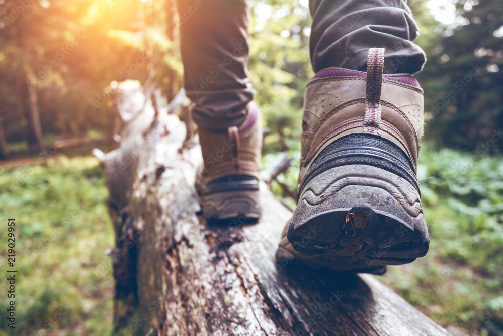 Fototapety, obrazy: a hiking boots