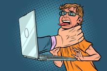 Internet Censorship Concept. H...