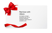 Paper Sheet With A Red Ribbon ...