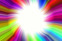 Rainbow Brightly Colored Colorful Joyful Abstract Radial Frame Background