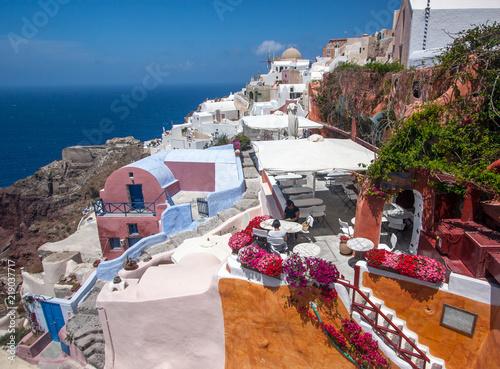 Poster de jardin Europe Méditérranéenne Santorini Oia Holiday Greece