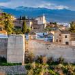 Cityscape at sunset of Granada, Spain