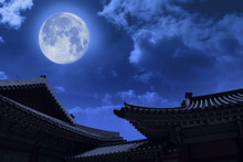 A Full Moon Can Be Seen In Chu...