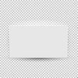 White blank model template top view with shadow isolated on transparent background. Vector Illustration