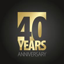 40 Years Anniversary Gold Blac...
