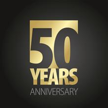 50 Years Anniversary Gold Blac...