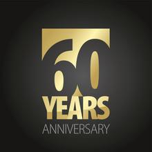 60 Years Anniversary Gold Blac...