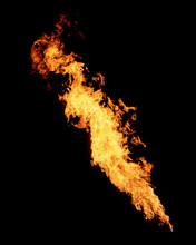 Long Narrow Flame Isolated On ...