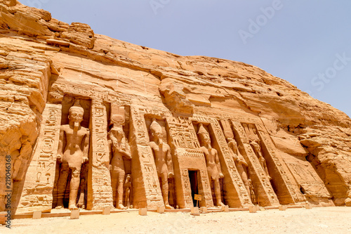 Fototapeta  Abu Simbel, The Rock Temple in Nubia, Southern Egypt commemorating Pharaoh Rames