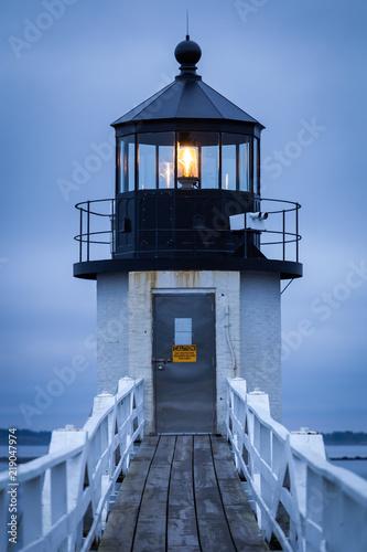Montage in der Fensternische Leuchtturm Marshall Point Lighthouse, Maine, USA