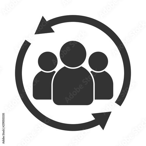 Fotografie, Obraz  User avatar icon, sign, profile symbol