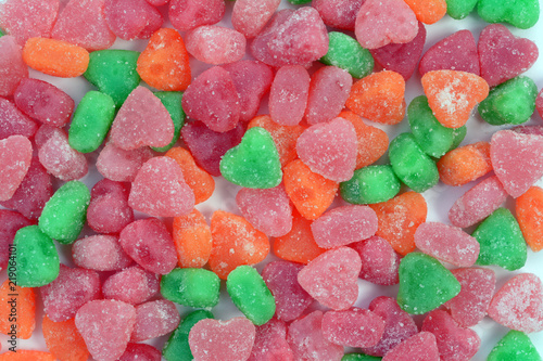 Fotografie, Obraz  soft chewing candy for Valentine