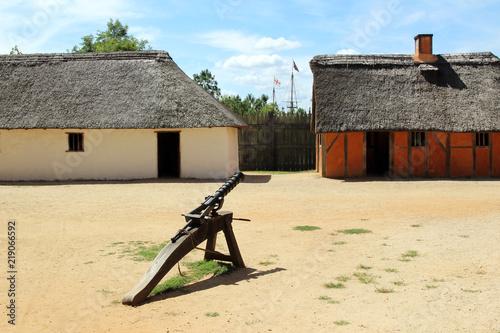 Fotografie, Obraz  Recreated interior of the James Fort at the historic Jamestown Settlement, Virgi