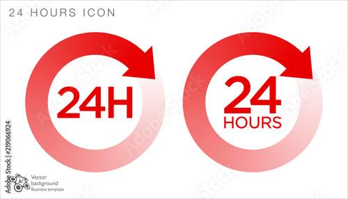 Fényképezés  24 hours icon #Vector Graphics