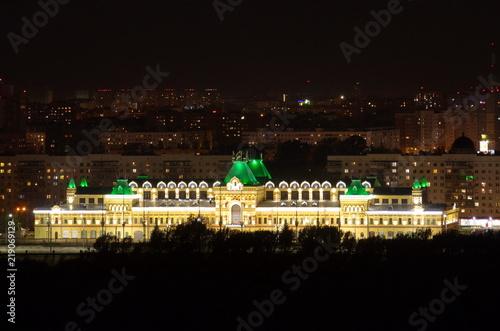 Fotografía  Nizhny Novgorod, Russia - August 18, 2018: Night view of The Main fair house