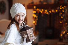 Beautiful Little Girl Holding ...